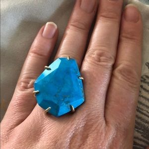 Kendra Scott Megan Cocktail ring Turquoise/gold 6.